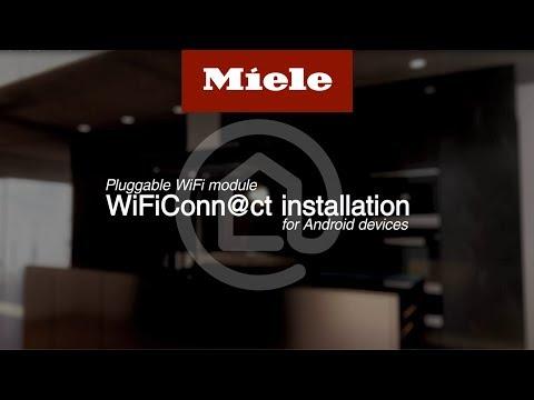 Installera WiFiConn@ct på Android-enheter – insticksmodul (kommunikationsmodul) I Miele