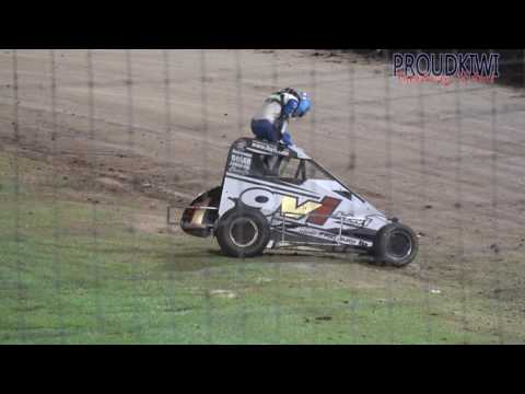 Some of the action from Western Springs Speedway on Saturday 25 February 2017 - dirt track racing video image