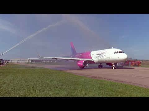 First Wizz Air UK flight from London Luton Airport