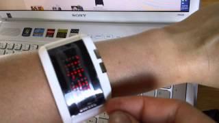 Diesel retro-futuristic lcd display silicon band sport watch dz.