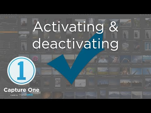 Activating and deactivating | Tutorial | Capture One 12