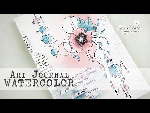 Art Journal + Stamping + Watercolors ✂️ Maremi's Small Art