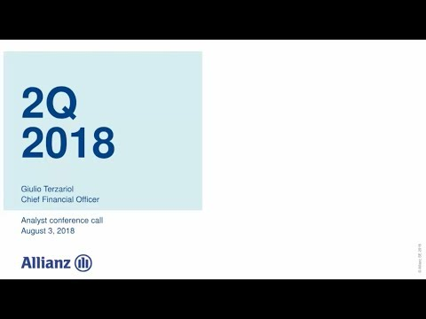 Allianz Group Analyst conference call on 2Q 2018