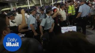 Clashes break out at Hong Kong airport
