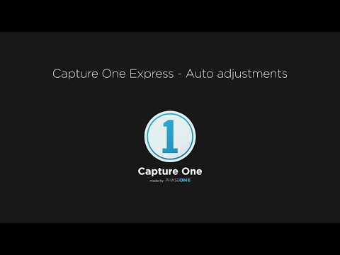 Capture One Express | Auto adjustments