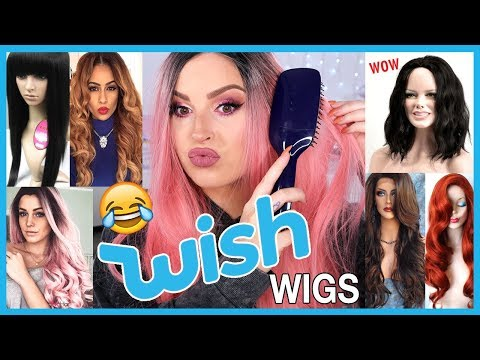 Trying On Cheap WISH APP Wigs! ?? LOL wtf....