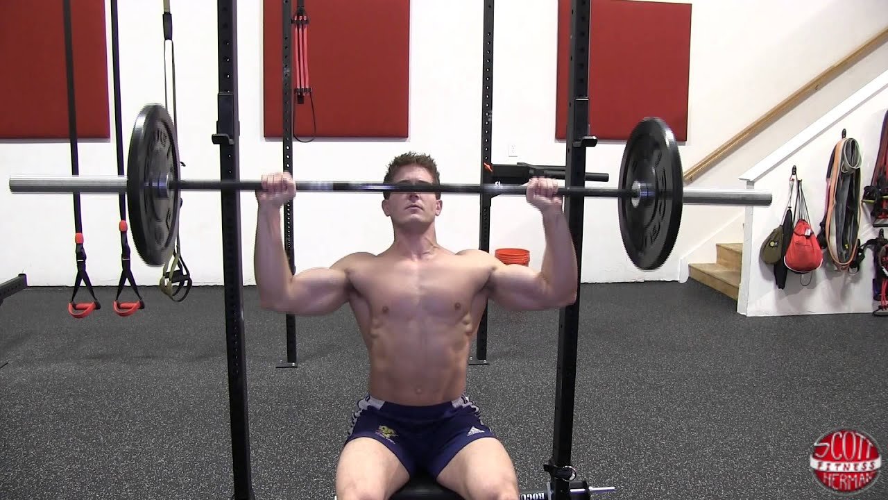 How To: Seated Barbell Shoulder Press