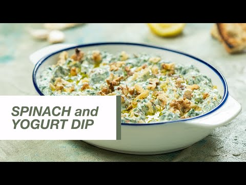 Spinach and Yogurt Dip with Walnuts   Food Channel L Recipes