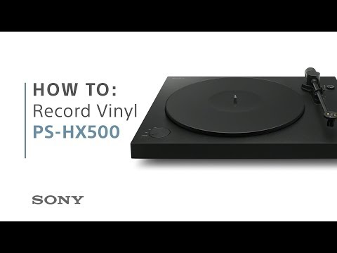 How to: Record your vinyl to High-Resolution Audio with the PS-HX500