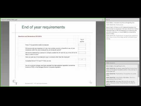 Chiene + Tait Business MOT Webinars - Payroll Update Feb 2014