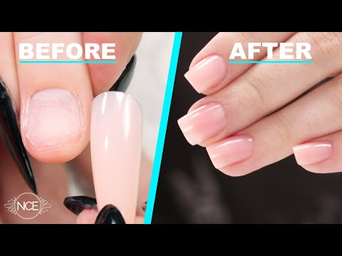 Fix Short Bitten Nails with Full Cover Gel Tips