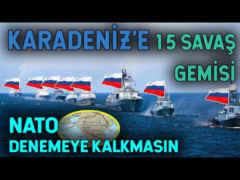 Karadeniz'e 15 Gemi Yolladı! NATO'ya Ayar Verdi!