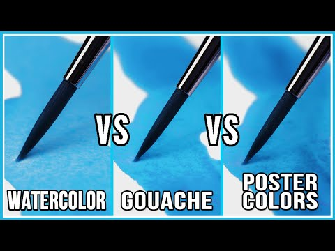 What's The Difference Between Watercolor & Gouache & Poster Colors?