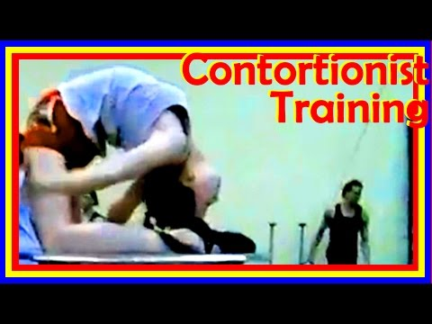 Gifted Contortionists Present Awesome Flexibility In Training Routine And Circus Performance