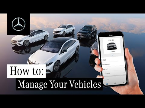 How to Manage Your Vehicles in Your Mercedes me App