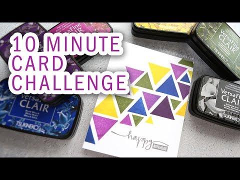 10 Minute Card Challenge + NEW Versafine Clair Inks
