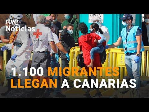 RÉCORD de llegada de MIGRANTES a CANARIAS 1.100 en un solo día I RTVE