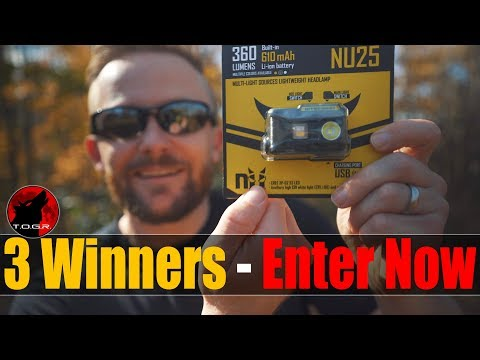 3 to Giveaway - NiteCore NU25 HeadLamp - Enter Now