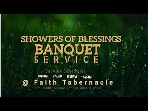 DOMI STREAM: SHOWERS OF BLESSINGS BANQUET  1ST SERVICE   25, OCTOBER  2020