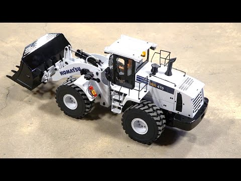 FIRST UNBOXING of 2020 - WHITE FRONT LOADER HYDRAULIC FULLY METAL w/ LIGHTS & SOUND | RC ADVENTURES - UCxcjVHL-2o3D6Q9esu05a1Q