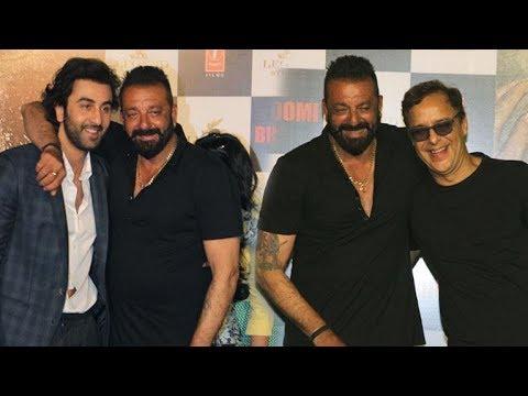 Ranbir Kapoor, Rajkumar Hirani, Vidhu Vinod Chopra candid on Sanjay Dutt!
