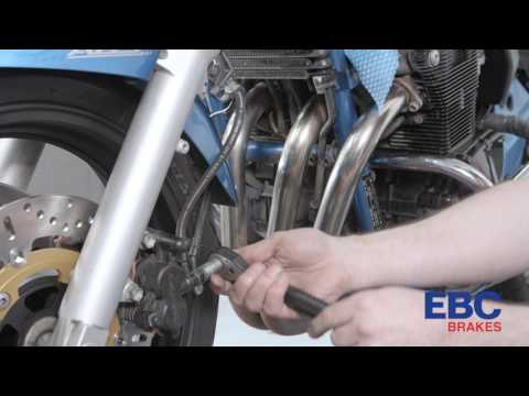 How to fit a high performance EBC brake line on a motorcycle