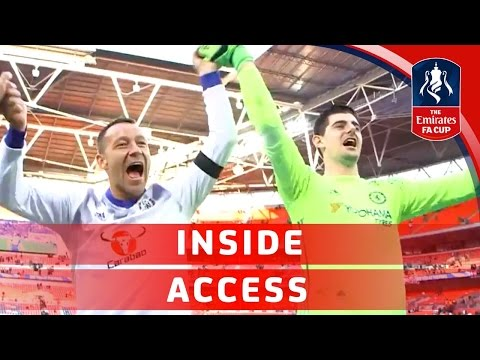 John Terry and teammates celebrate reaching the Emirates FA Cup final | Inside Access