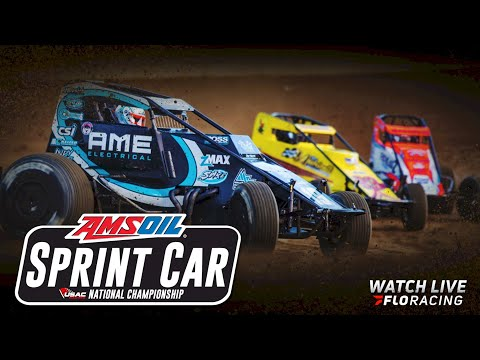 LIVE: USAC Sprint Car & Midget Heat Races   USAC Nationals at Huset's Speedway - dirt track racing video image