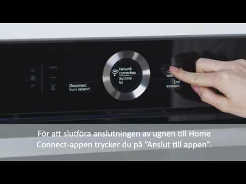 Home Connect anslutning av Bosch ugn