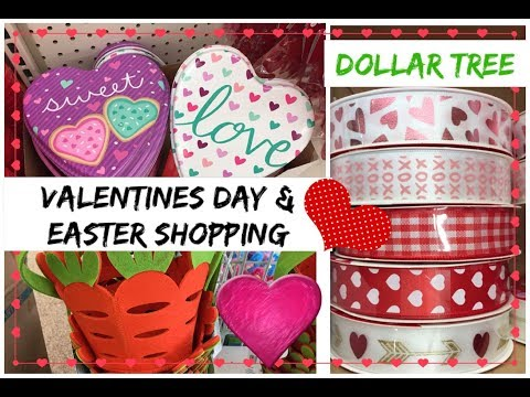 DOLLAR TREE VALENTINES DAY SHOPPING | EASTER 2018 | Momma from scratch