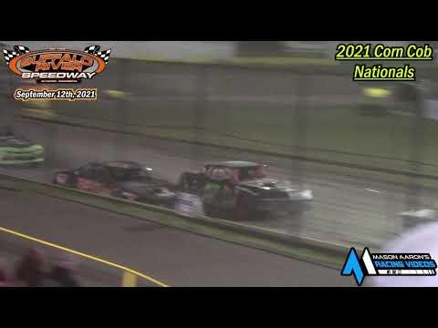 Buffalo River Speedway IMCA Stock Car A-Main (2021 Corn Cob Nationals) (9/12/21) - dirt track racing video image