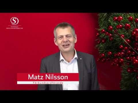 Matz Nilssons julhälsning 2018 till förtroendevalda