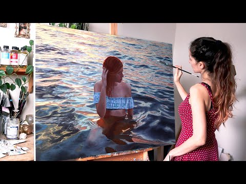 It took me 2 years to finish this artwork | Oil Painting Time Lapse | Realistic Water Portrait