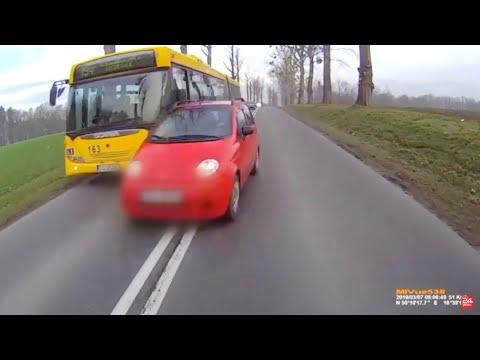 Kierowca Matiza cudem uniknął poważnego wypadku