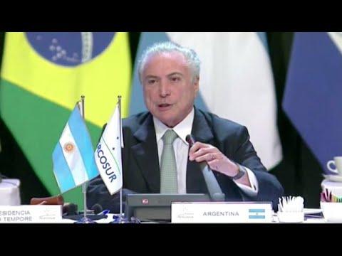Temer assume presidência do Mercosul em momento crítico para governo