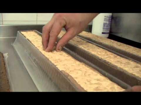 Fabrication de la bûche au chocolat praliné
