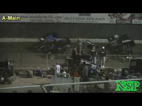 August 19, 2016 600 Mini Sprints A Main - dirt track racing video image