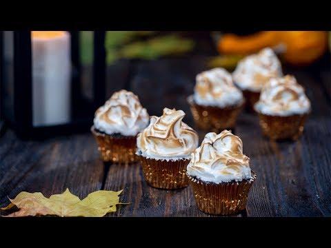 Pumpkin Mocha Cupcakes with Toasted Meringue