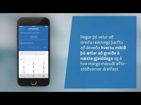 Greiðsludreifing kreditkortareikninga í Appinu og Netbankanum