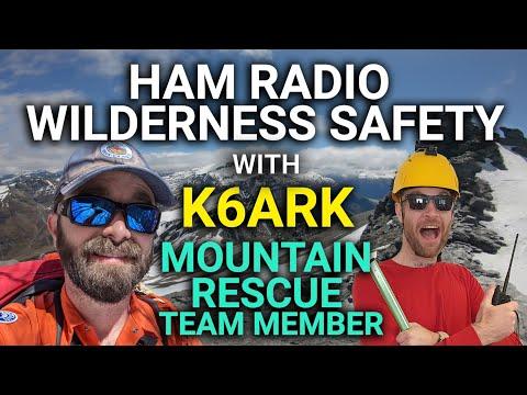 Portable Ham Radio Wilderness Safety with Mountain Rescue Team Member Adam - K6ARK