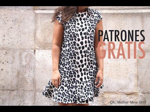 Patrones gratis de costura: vestido de mujer con volantes