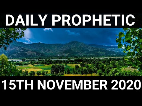 Daily Prophetic 15 November 2020 11 of 12