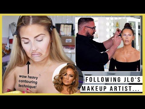 i tried following a SCOTT BARNES & TATI makeup tutorial! 🤔 JLO MAKEUP ARTIST
