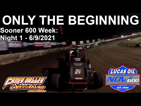 ONLY THE BEGINNING - Lucas Oil NOW600 Sooner 600 Week: Night 1 at Caney Valley Speedway - 6/9/2021 - dirt track racing video image