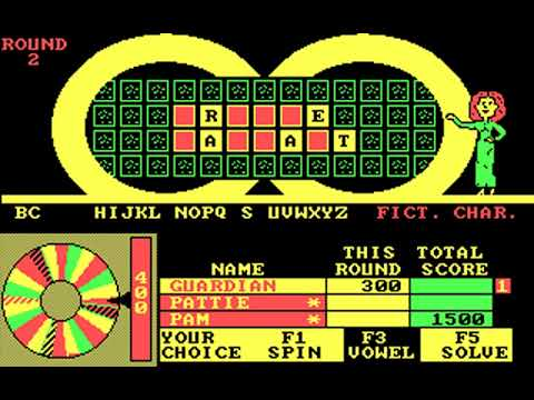 Wheel of Fortune: Golden Edition (GameTek, IJE) (MS-DOS) [1989]