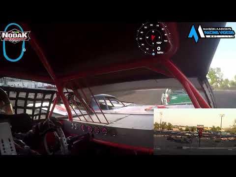 #11S Mike Swallers IMCA Stock Car On-Board @ Nodak (7/12/21) - dirt track racing video image