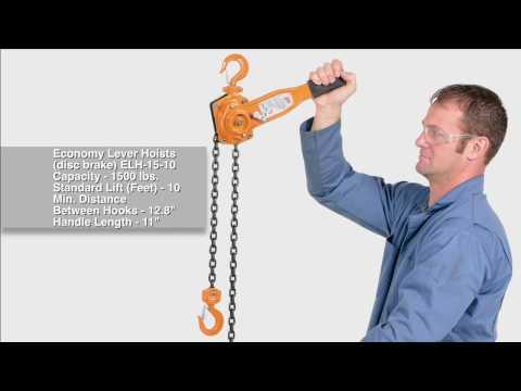 Economy Lever Hoists (disc brake) ELH-15-10