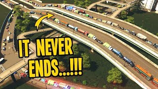 The Never-Ending Traffic in Rotterdam in Cities Skylines!