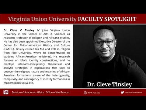 VUU Faculty Spotlight Tinsley