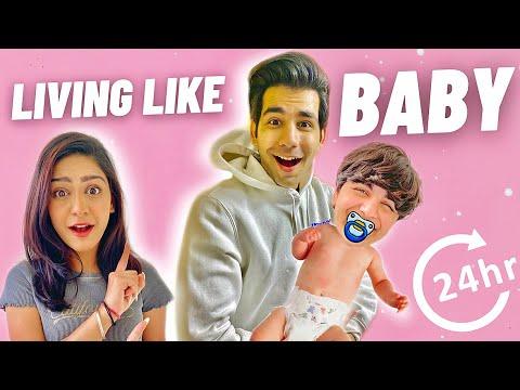 LIVING LIKE BABY FOR 24 HOURS   Rimorav Vlogs